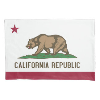 Patriotic Single Pillowcase flag of California