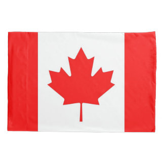 Patriotic Single Pillowcase flag of Canada