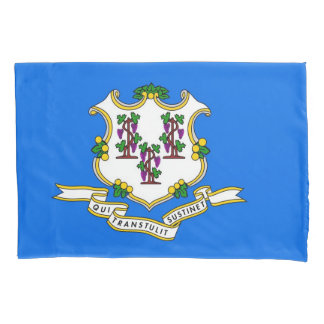 Patriotic Single Pillowcase flag of Connecticut