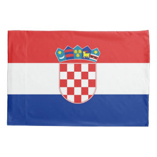 Patriotic Single Pillowcase flag of Croatia