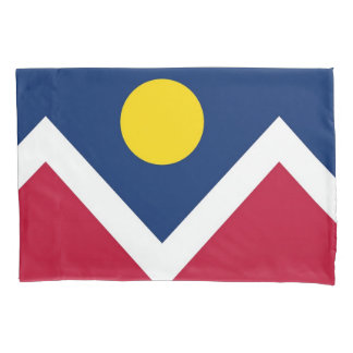 Patriotic Single Pillowcase flag of Denver