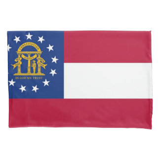 Patriotic Single Pillowcase flag of Georgia