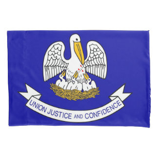 Patriotic Single Pillowcase flag of Louisiana, USA