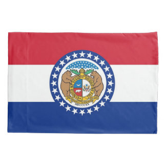 Patriotic Single Pillowcase flag of Missouri