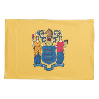 Patriotic Single Pillowcase flag of New Jersey
