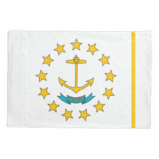 Patriotic Single Pillowcase flag of Rhode Island