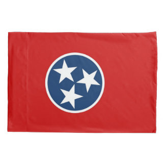 Patriotic Single Pillowcase flag of Tennessee