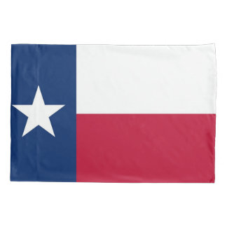 Patriotic Single Pillowcase flag of Texas