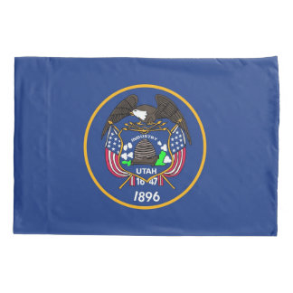 Patriotic Single Pillowcase flag of Utah