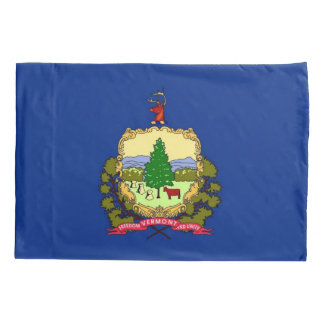 Patriotic Single Pillowcase flag of Vermont
