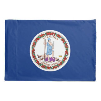 Patriotic Single Pillowcase flag of Virginia