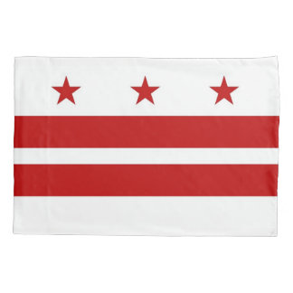 Patriotic Single Pillowcase flag of Washington DC