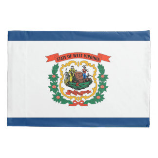 Patriotic Single Pillowcase flag of West Virginia