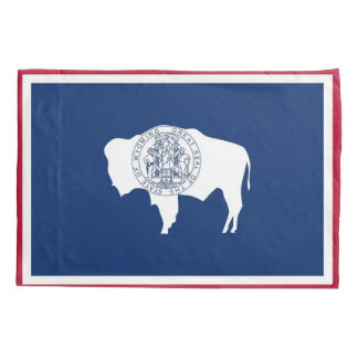 Patriotic Single Pillowcase flag of Wyoming, USA