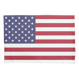 Patriotic Single Pillowcase with flag of USA