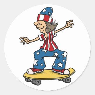 Patriotic Skateboarder stickers