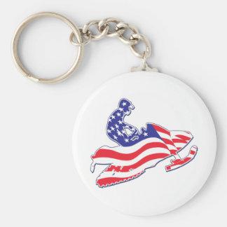 Patriotic-Sledder Keychain