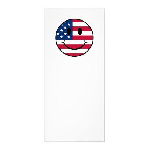 Patriotic Smiley Customized Rack Card