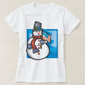 Patriotic Snowman T-Shirt