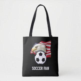 Patriotic Soccer Fan All-Over-Print Tote Bag