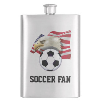 Patriotic Soccer Fan Classic Flask