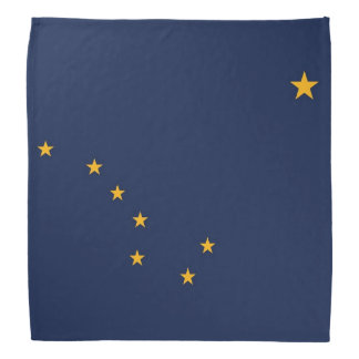 Patriotic, special bandana with Flag of Alaska