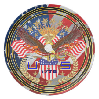 Patriotic Special Edition Melamine Plate