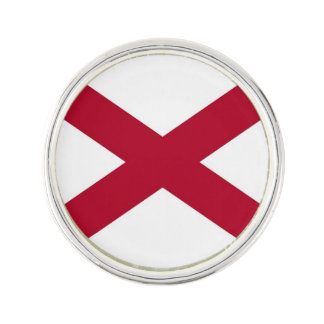 Patriotic, special lapel pin with Flag of Alabama