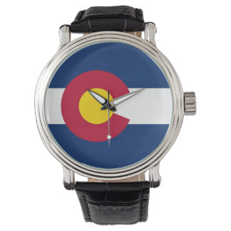 Patriotic, special watch with Flag of Colorado