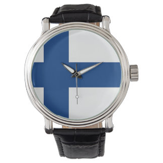 Patriotic, special watch with Flag of Finland