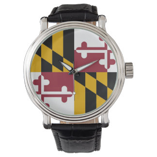 Patriotic, special watch with Flag of Maryland