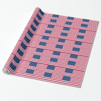 Patriotic, special wrapping paper with Flag of USA