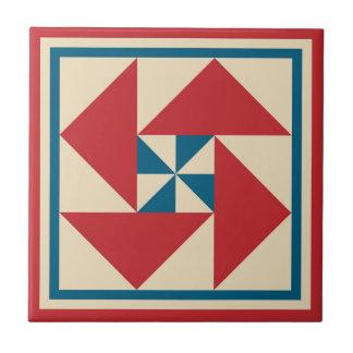 Patriotic-Spin Quilt Block Tile