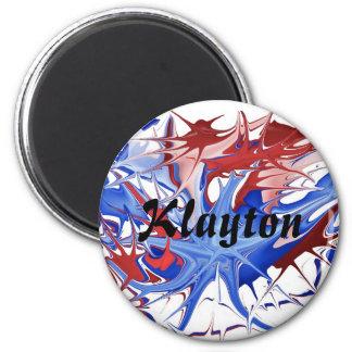 """Patriotic Splatter """"Name"""" Design Magnet"""