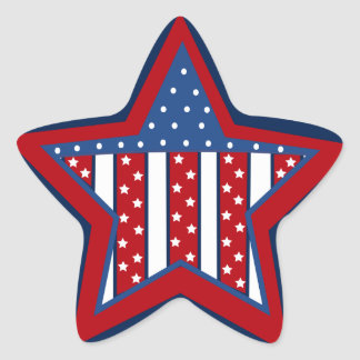 Patriotic star Holiday fun sticker