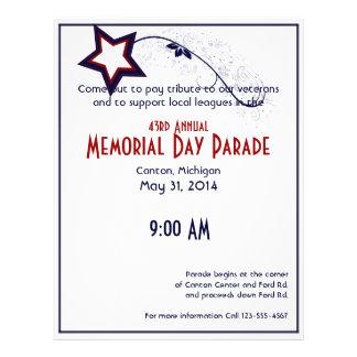 Patriotic Star Light Memorial Day Flyer Design