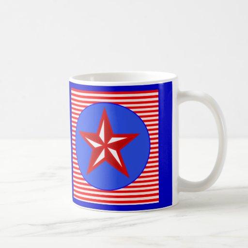 patriotic star mugs