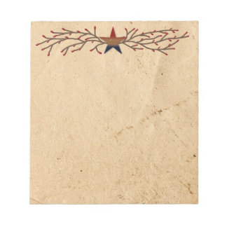 Patriotic Star Notepad