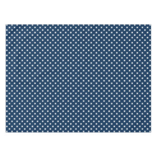 Patriotic star pattern tablecloth for 4th of July