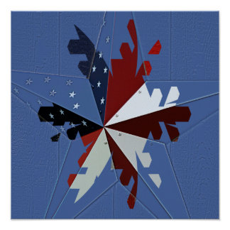 Patriotic Star Poster/Print Poster