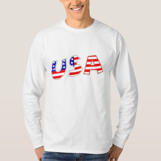 Patriotic Star Spangled USA Long Sleeve Tee