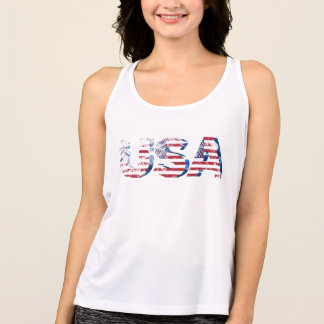 patriotic star stripes usa flag women's summer top