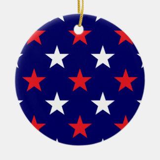Patriotic Stars 1 Ceramic Ornament