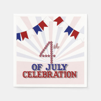 Patriotic Stars 4th of July Paper Napkins