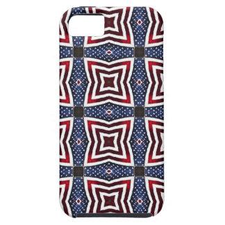 Patriotic Stars and Stripes Kaleidoscope iPhone 5 Case