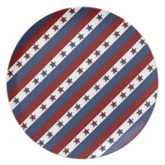 Patriotic Stars and Stripes Plates