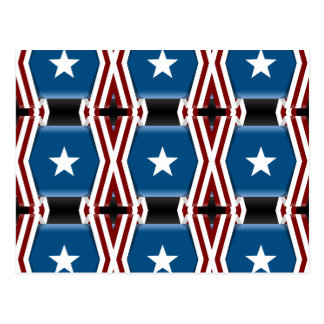 Patriotic Stars And Stripes Postcard