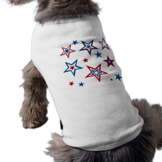 Patriotic Stars Doggie Tee Shirt