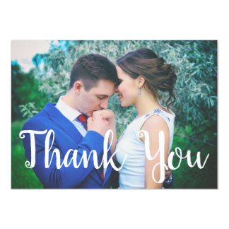 Patriotic Stars Fourth of July Wedding Thank You Card