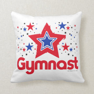 Patriotic Stars Gymnastics by Golly Girls Throw Pillow